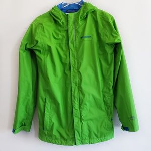 Youth Columbia lime green rain coat size XL